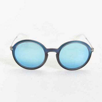 Ray-Ban Blue Iridescent Round Sunglasses