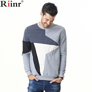 Fashion New Arrival Men's Sweatshirt High Quality Autumn And Winter Casual Geometric Long Sleeve Pullover Hoodies Men