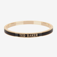 Enamel bangle - Black | Jewellery | Ted Baker UK