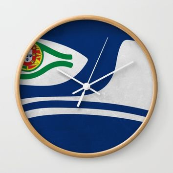Portuguese Hawks culture Wall Clock by Tony Silveira