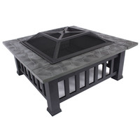 Outdoor Fire Pit bbq Grill Table