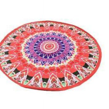Quick Dry Flower Printed Wrap Towel Polyester Roundie Mat