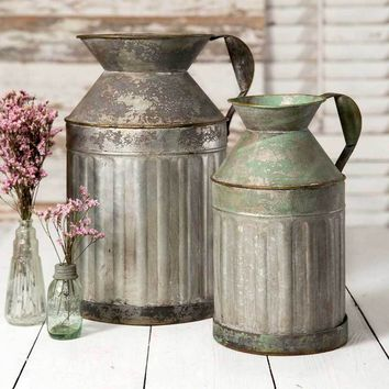 Metal Milk Jugs