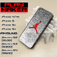 Michael Jordan nike Logo - iPhone 4/4s, iPhone 5, 5s, 5c, Samsung Galaxy i9200 s2, i9300 s3 and i9500 s4 Case