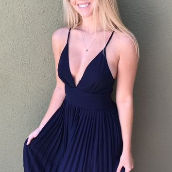 Take Me Out Dress - Navy