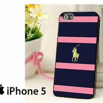 Polo Ralph Lauren Navy Blue Stripe Hard Case for iPhone 4,iPhone 4s,iPhone 5,iPhone 5s