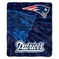 New England Patriots Sherpa Blanket (Pat Team)