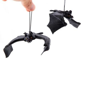Funny Halloween Trick Props Amusing Rubber Simulation Bat Wall Hanging Halloween Masquerade Party Decoration