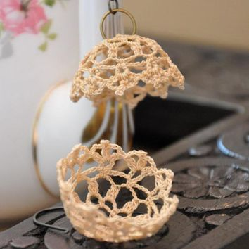 Lampshade Lace Earrings on Luulla