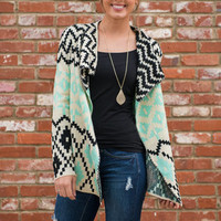 Over And Out Cardigan, Mint