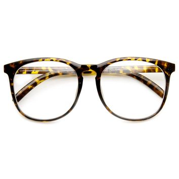 Vintage Inspired Oversized P3 Circa 80s Keyhole Clear Lens Glasses