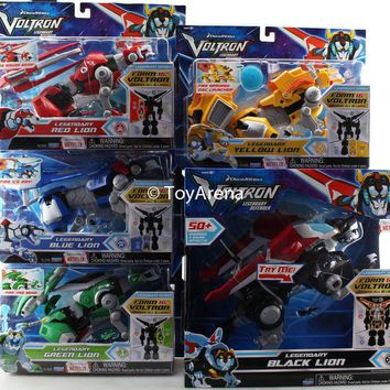 "Playmates Dremworks 16"" Voltron The Legendary Defender Set of 5 Lions Combiner"