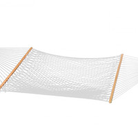 Patio Bliss Hammock Classic Poly Rope- Natural - Canvas White