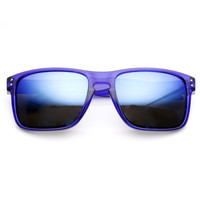 Action Sports Color Mirror Lens Square Aviator Sunglasses 8684