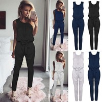 Women'S Design Sleeveless Jumpsuit