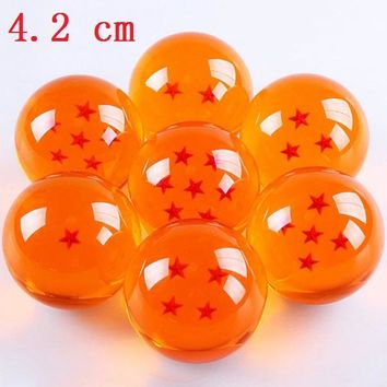 4.2 cm 1 Piece Dragon Ball 1 2 3 4 5 6 7 Star Crystal balls Japan Anime action figure toys Gift for Children