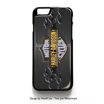 Harley Davidson Art for iPhone 4 4S 5 5S 5C 6 6 Plus , iPod Touch 4 5  , Samsung Galaxy S3 S4 S5 Note 3 Note 4 , and HTC One X M7 M8 Case Cover