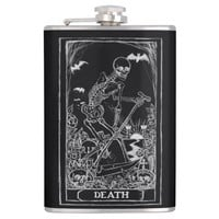 Death Card Tarot hip flask