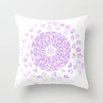 :: Summer Lavender Love :: Throw Pillow by GaleStorm Artworks