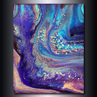 11x14 Print: Ultramarine Blue and Purple