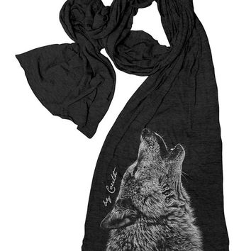 Scarf WOLF American Apparel Tri-Blend Hand Screen Print