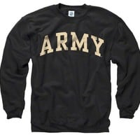 Army Black Knights Black Arch Crewneck Sweatshirt