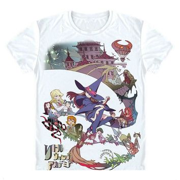 New Little Witch Academia T-Shirt Cosplay Costume Anime Men T shirt Women Clothing Tees Japan Anime Tee shirt Gift clothes