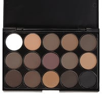 Professional 15 Colors Smoked Eyeshadow Palette Warm Matte Shimmer Makeup Cosmetic Portable