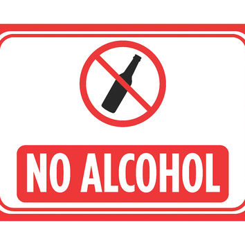 """""""No Alcohol"""" Swimming Pool Sign"""