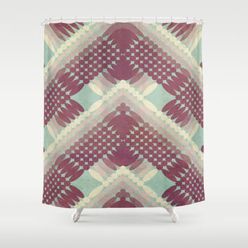 Directions II Shower Curtain by metron