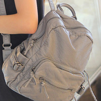 Casual Back To School On Sale Stylish Comfort Hot Deal College Leather Backpack [6582748551]