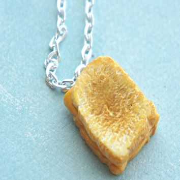 grilled cheese sandwich necklace