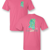 Sassy Frass Home Sweet Home Mississippi MS Pattern State Design Girlie Bright T Shirt