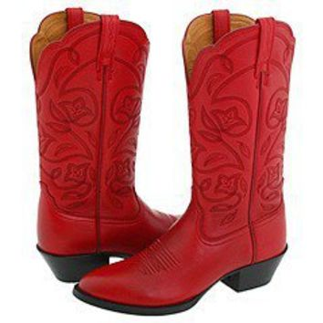 Red Ariat Heritage Boots