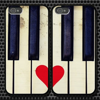 Love Piano iPhone 5 4/4S Samsung Galaxy S3 S2 S3 Mini Hard Plastic Glossy Couple Cases 0019