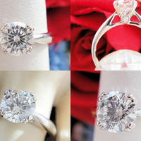 1.11CT Round Brilliant Echo Diamond Scott Kay Engagement Ring IGI Certified and Appraised