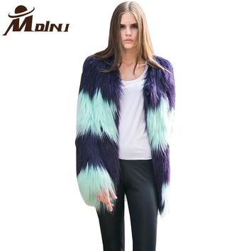 *Online Exclusive* Fur & Faux Fur Winter Long Jacket