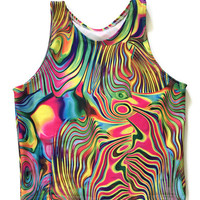 MULTIPLE COLORS Crop Top Tank Top Velvet Holographic Mandala Trippy Tie Dye Halter