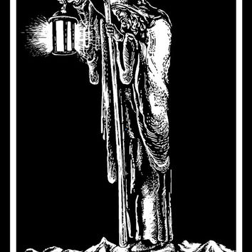 The Hermit, Tarot Patch | Back Patch | Patches | Punk Patches