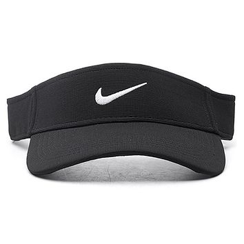 Nike Stylish Unisex Casual Summer Outdoor Sport Hat Sunshade Golf Baseball Cap Hat Black I12424-1