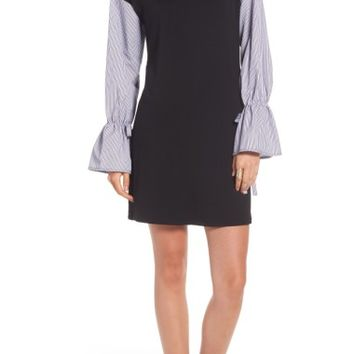 Socialite Poplin Sleeve Sweatshirt Dress | Nordstrom
