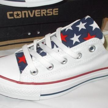 4th of July Converse Shoes