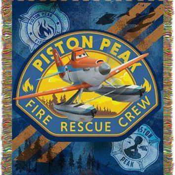 Disney Planes Fire and Rescue Heroes 48x60 Woven Tapestry Throw FREE US SHIPPING
