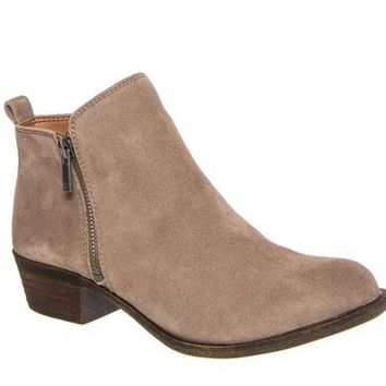 Lucky Brand Basel Brindle Suede Booties