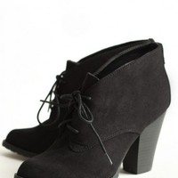 soho lace-up booties in black at ShopRuche.com