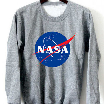 Nasa Meatball Sweatshirt Nasa Sweaters NASA Logo Black White Gray Maroon Unisex Sweaters Tee S,M,L,XL #1