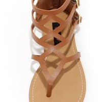 Dollhouse Athens Chestnut Gladiator Sandals