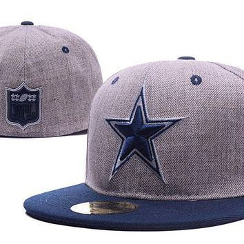 Dallas Cowboys New Era 59FIFTY NFL Football Cap Gray-Blue