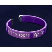 Opt to Adopt Fabric Bangle Bracelet - Adult Size (Retail)