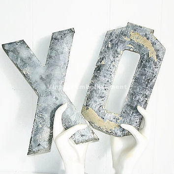 Antique Marquee Letters XO Hugs and Kisses Vintage Marquee Letters XO Shop VintageEmbellishment